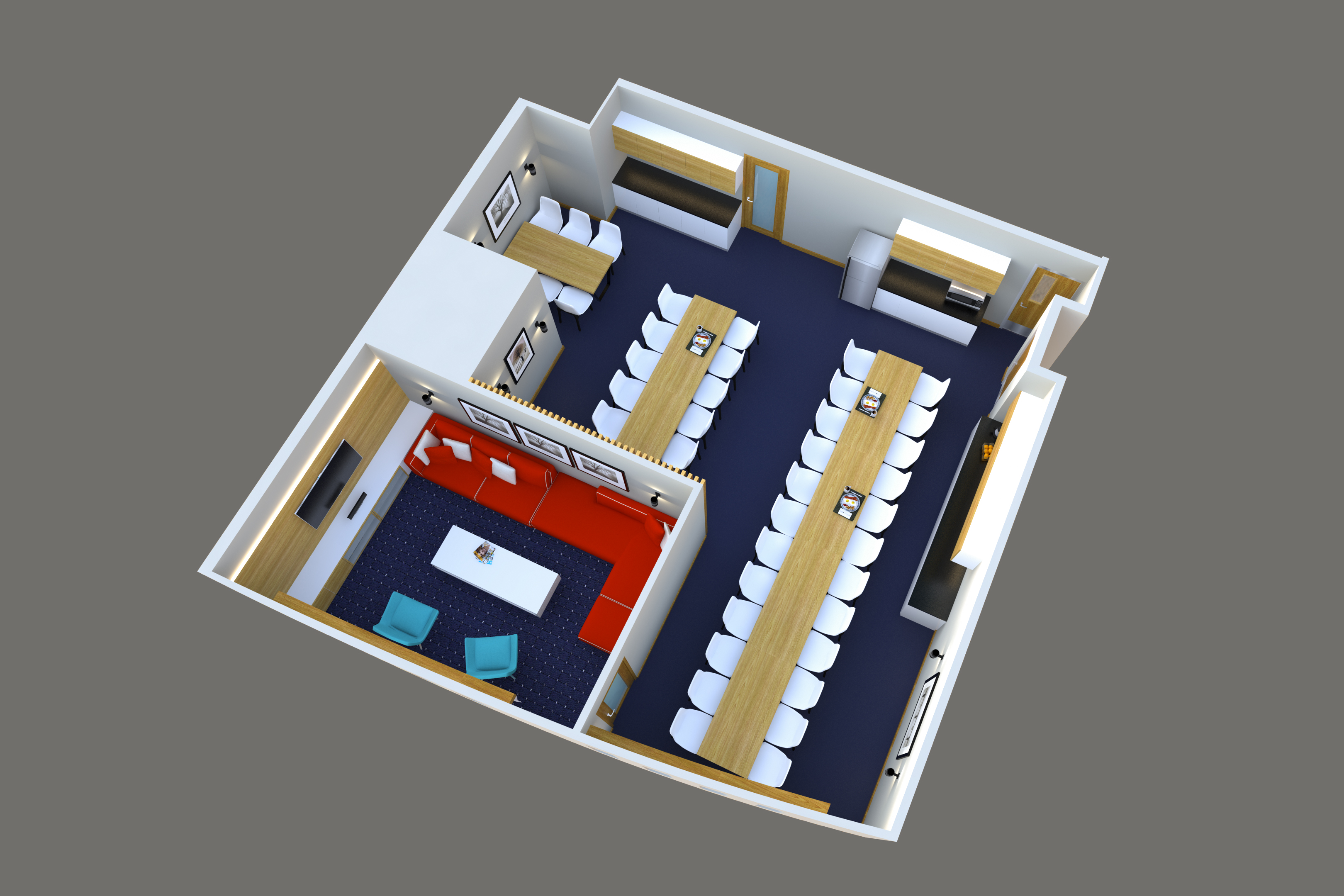 mess-and-recreation-room-axonometric-view